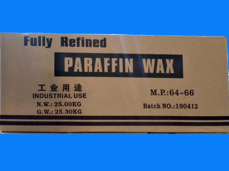 64/66 Fully refined paraffin wax packing in 25kgs/carton