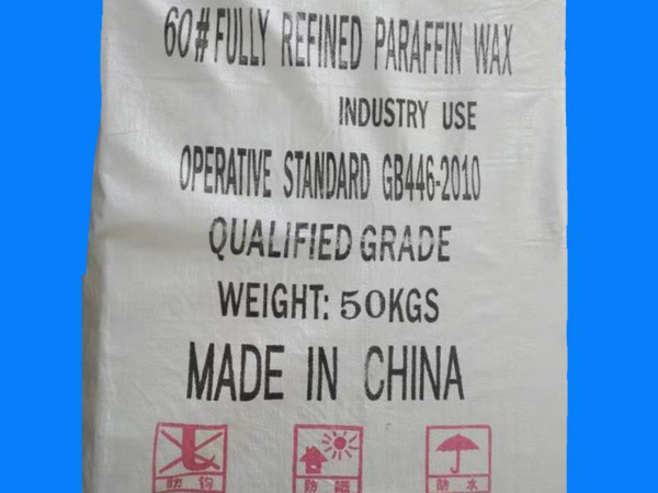 60/62 Fully refined paraffin wax packing in 50kgs/bag