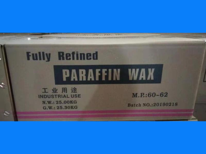 60/62 Fully refined paraffin wax packing in 25kgs/carton