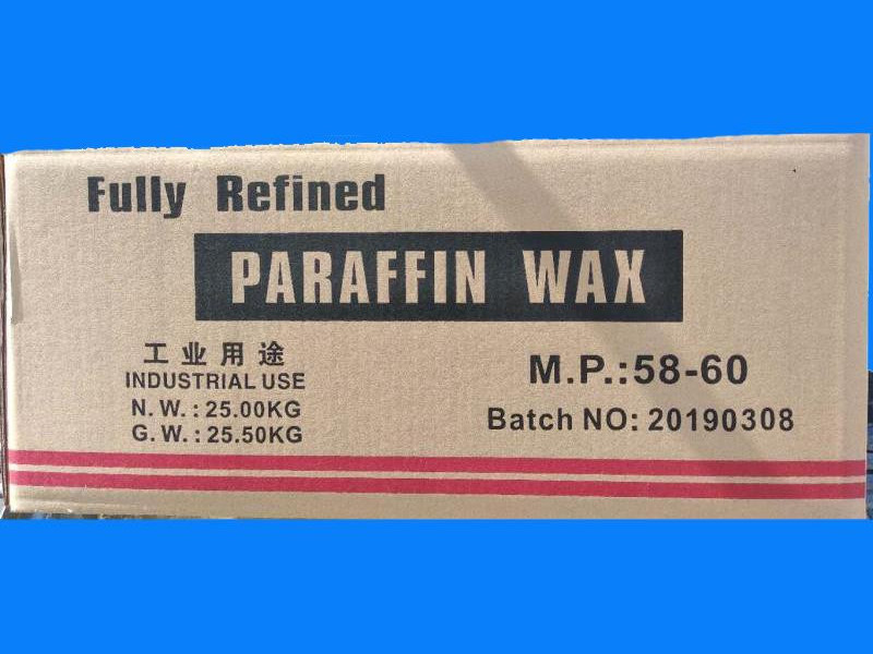 58/60 Fully refined paraffin wax packing in 25kgs/carton